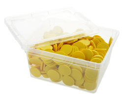 Box of blank tokens - ø 29mm - Yellow