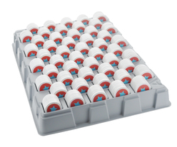 Tray filled with printed stock-tokens - Star