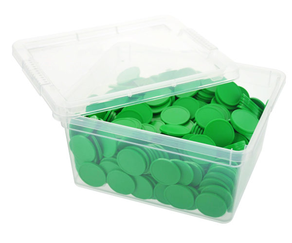 Box of blank tokens - ø 29mm - Green