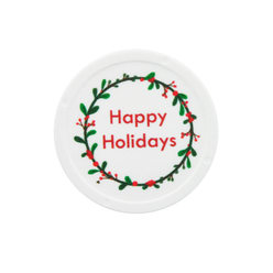 Happy Holidays design - Printed Tokens ø 38mm