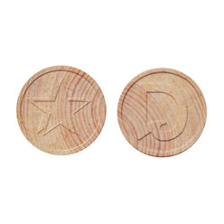 Wooden Token - Embossed - Personalised & Standard Design