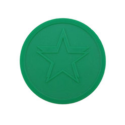 Embossed tokens ø 35mm - Dark green - Star