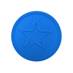 Embossed tokens ø 35mm - Blue - Star