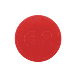 Embossed tokens ø 29mm - Red - € 2