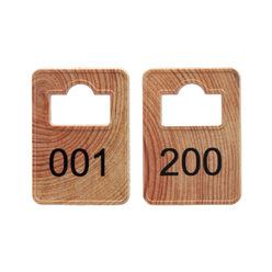 Cloakroom Tokens In Stock - Wood - Square Opening - 001-200