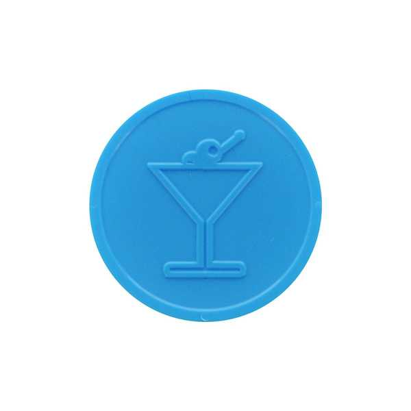 Embossed Tokens In Stock ø 29mm - Light blue - Cocktail glass
