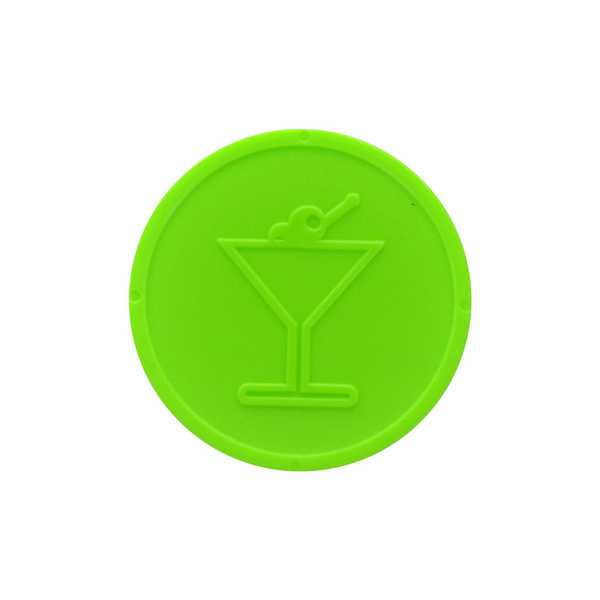 Embossed Tokens In Stock ø 29mm - Neon lime - Cocktail glass