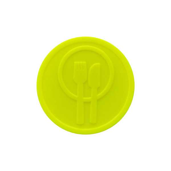 Embossed Tokens In Stock ø 29mm - Neon yellow - Meal