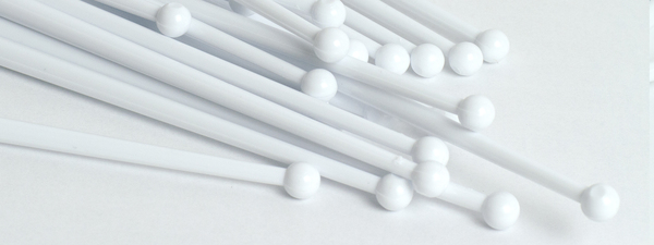 Cocktail Stirrers in stock- White Mixers